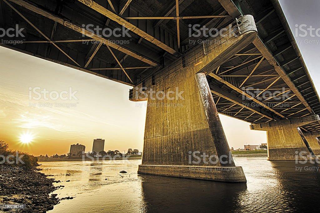 Diefenbaker Bridge in Prince Albert stock photo