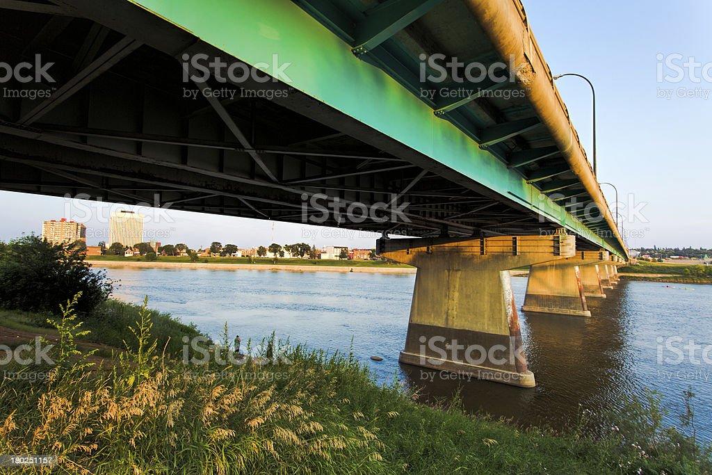 Diefenbaker Bridge in Prince Albert royalty-free stock photo