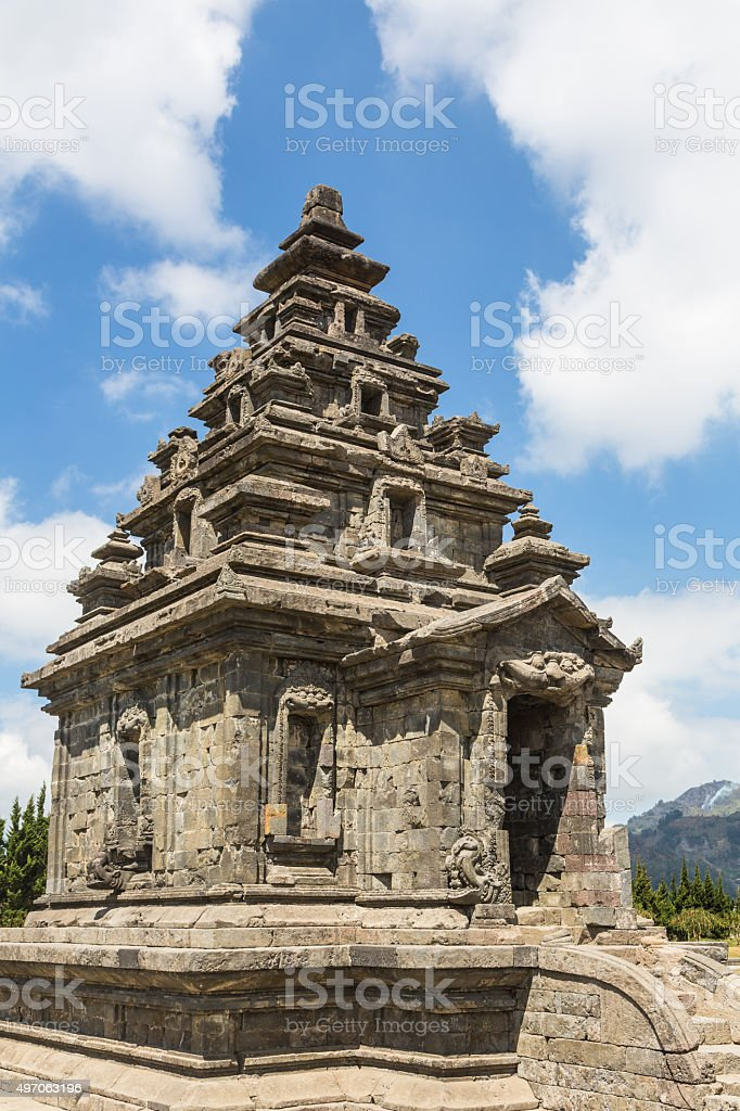 Dieng Plateau temples in Java stock photo