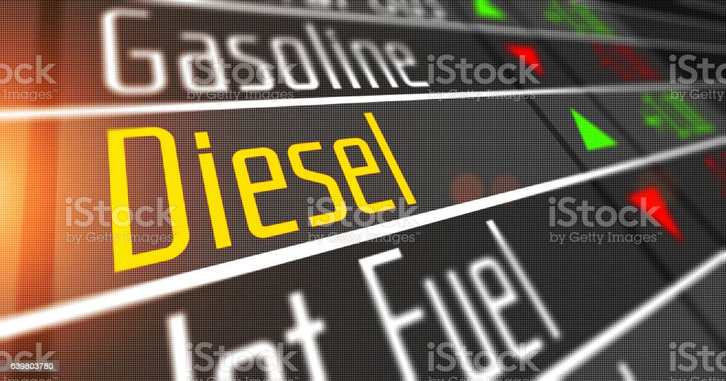 Diesel as commodity on the stock market. stock photo