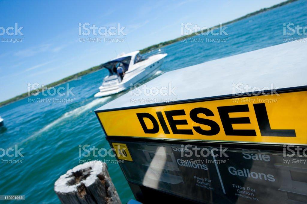Diesel Boat fuel Marina royalty-free stock photo