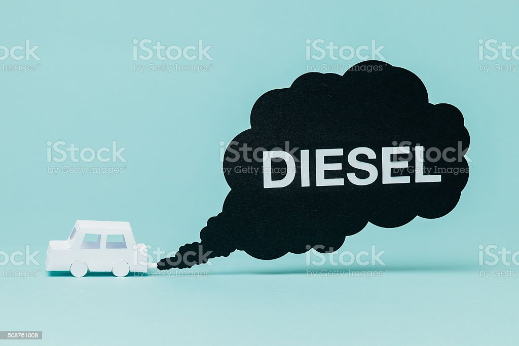 Diesel car pollution stock photo