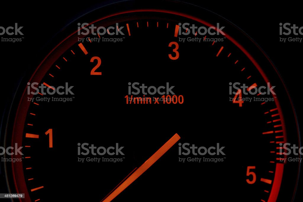 Diesel car tachometer stock photo