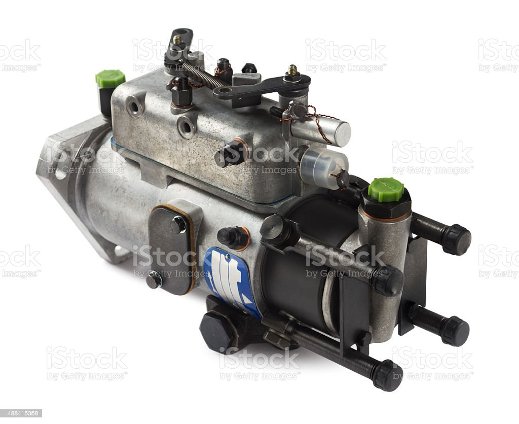 Diesel fuel injection pump stock photo