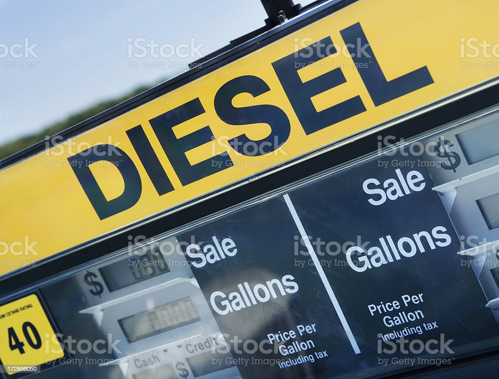 Diesel fuel pump royalty-free stock photo