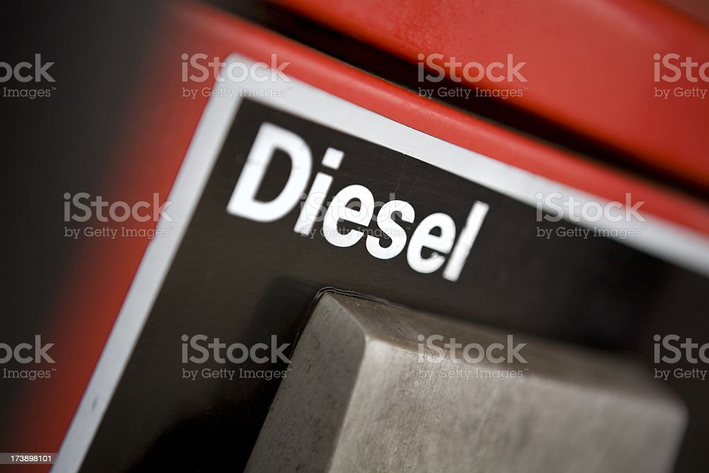 Diesel gas pump royalty-free stock photo