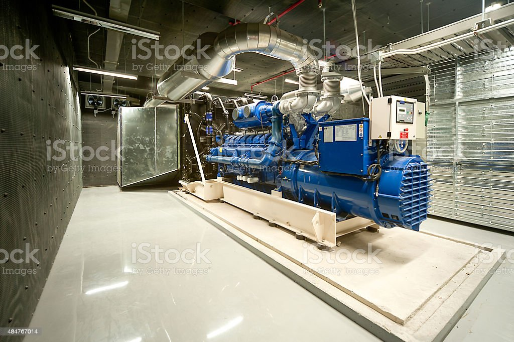 Diesel generator stock photo