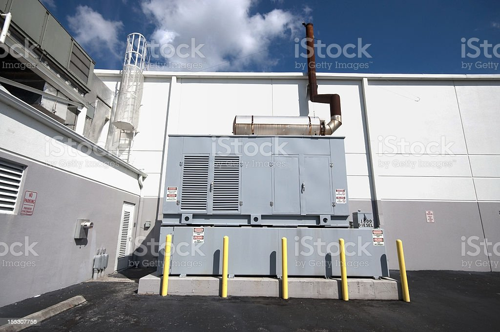 Diesel Generator Standby unit stock photo