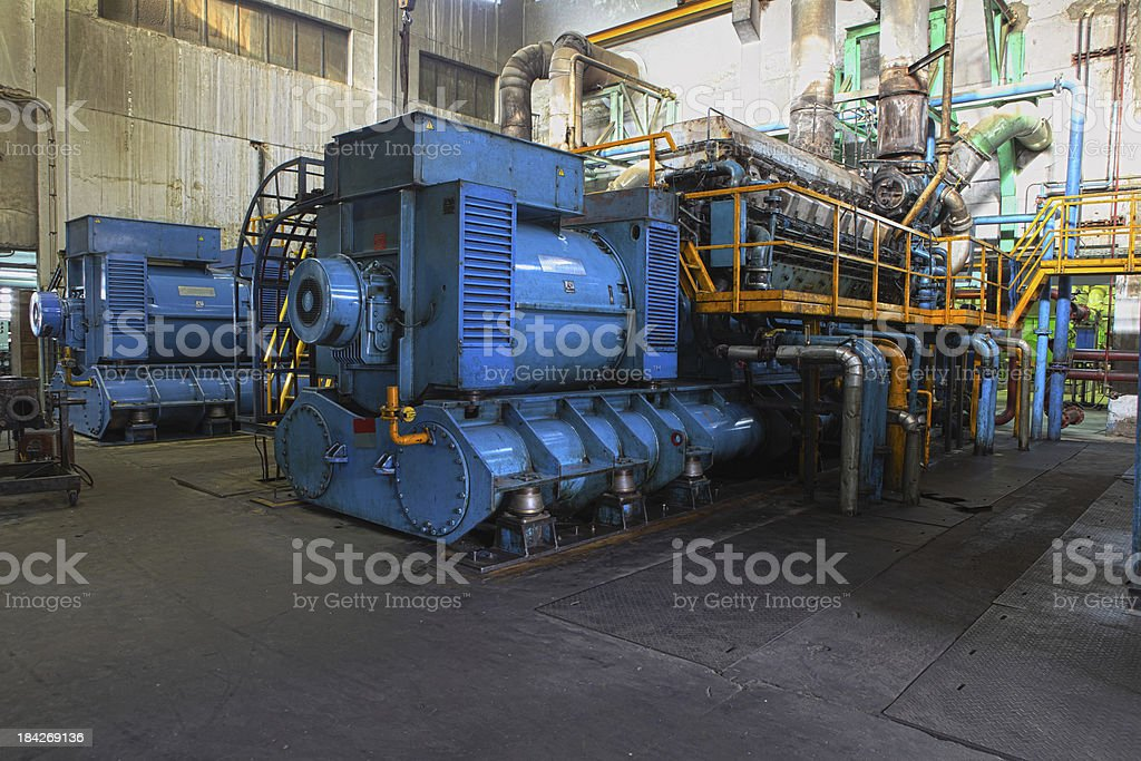 Diesel Generator XXXL HDR stock photo