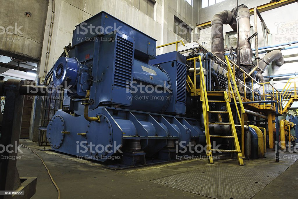 Diesel Generator XXXL HDR royalty-free stock photo