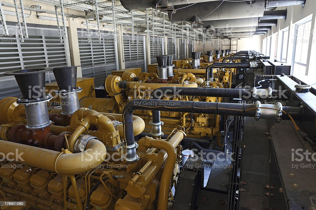 Diesel Generators stock photo