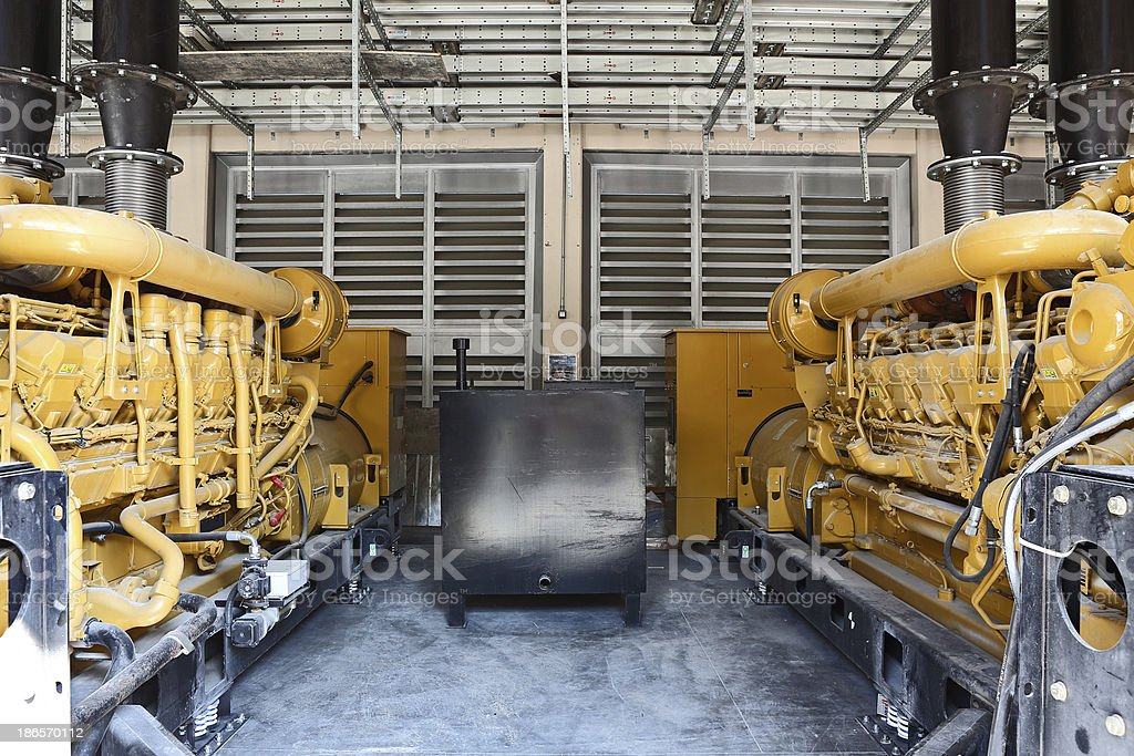 Diesel Generators royalty-free stock photo