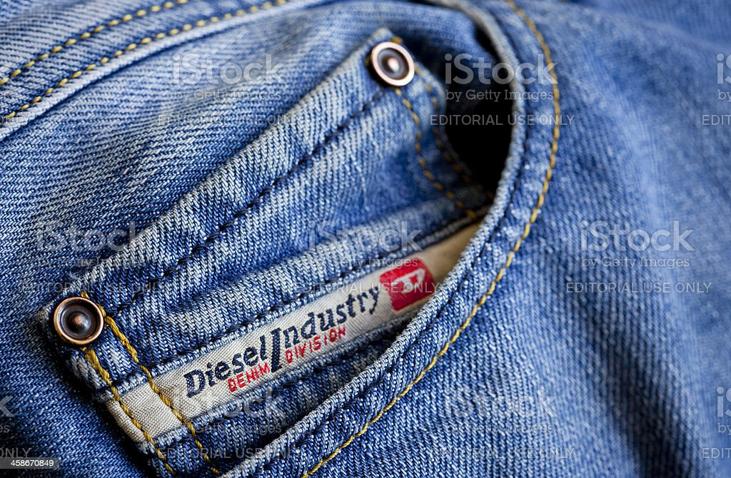 Diesel label on jeans royalty-free stock photo