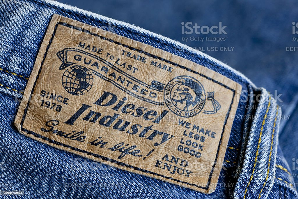 Diesel Label royalty-free stock photo