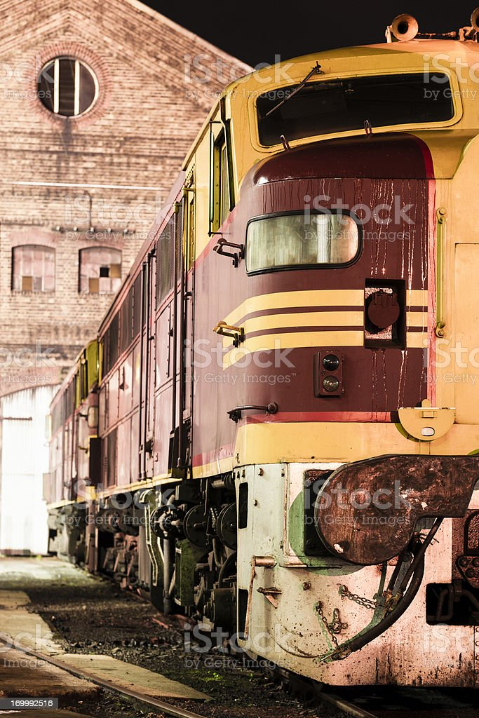 Diesel locomotive royalty-free stock photo