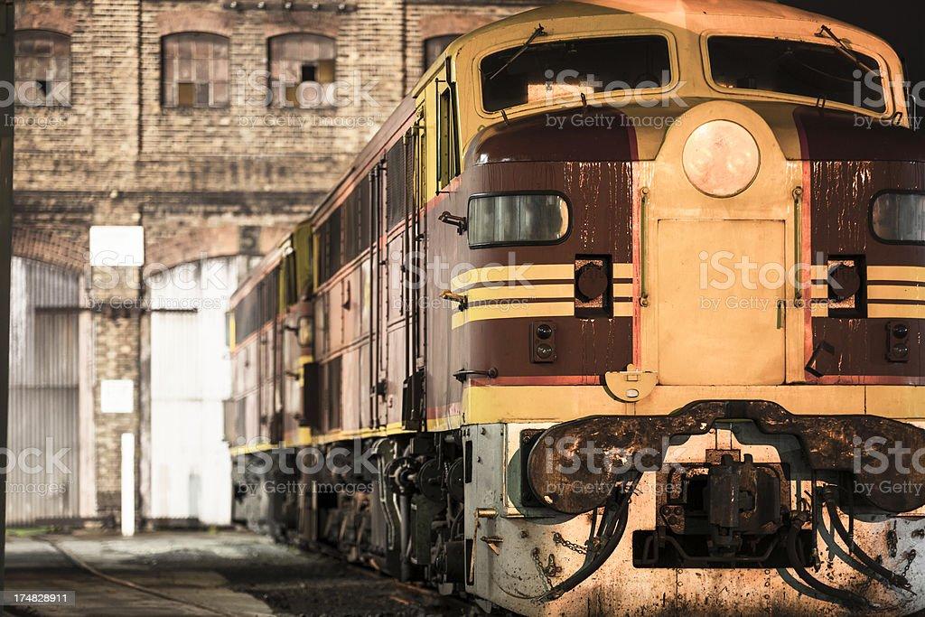 Diesel locomotive stock photo