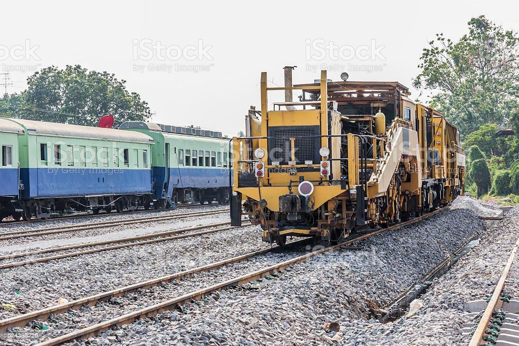 Diesel Locomotive, Train in Thailand stock photo