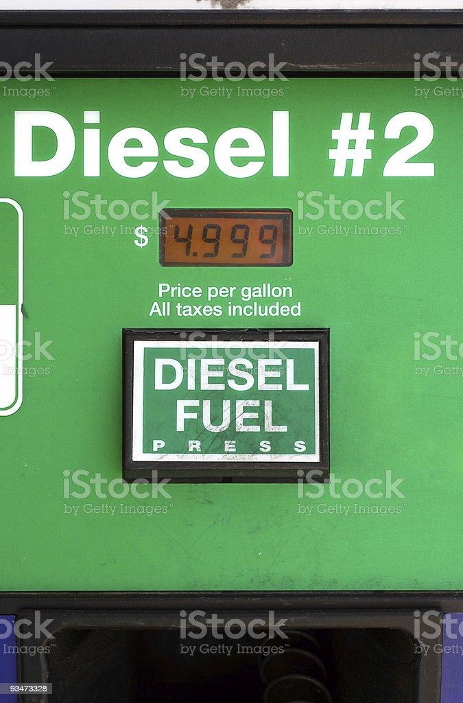 $5 Diesel royalty-free stock photo