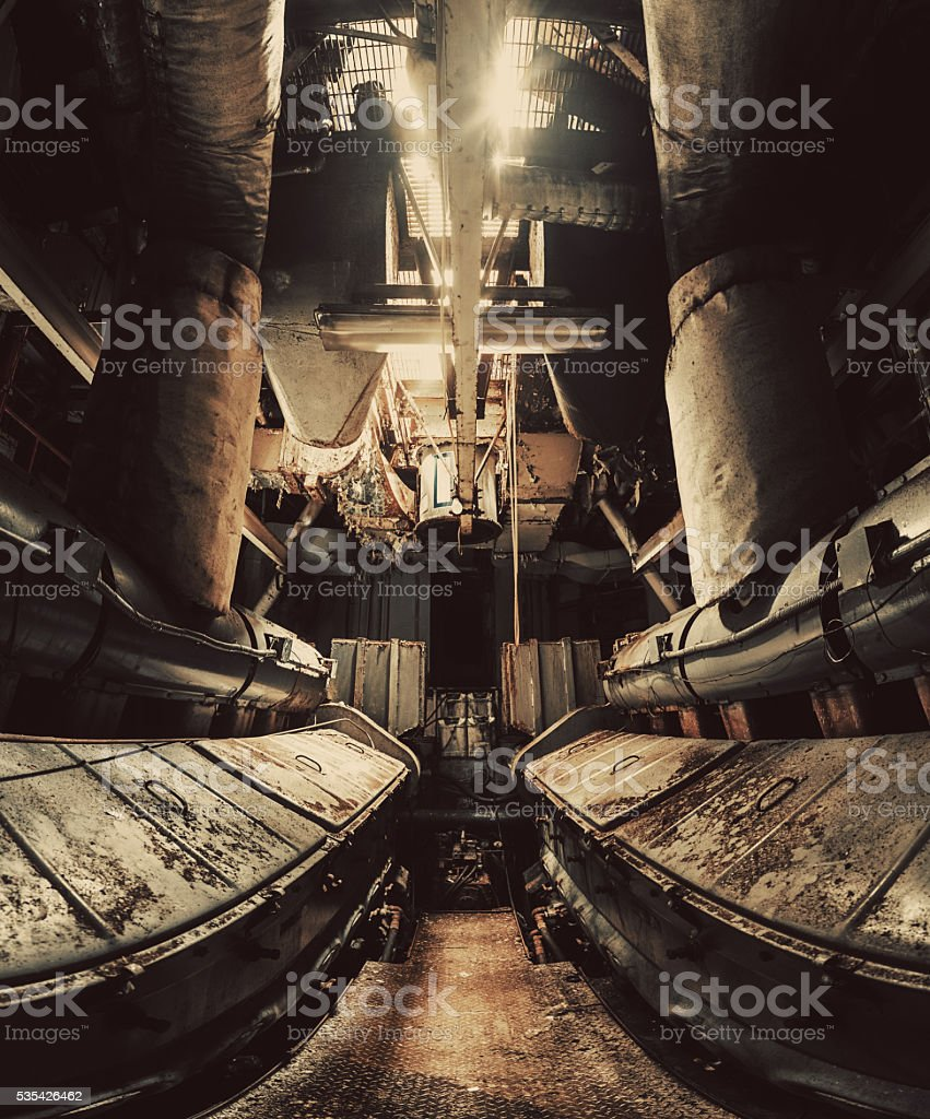 Diesel Powered Symmetry stock photo