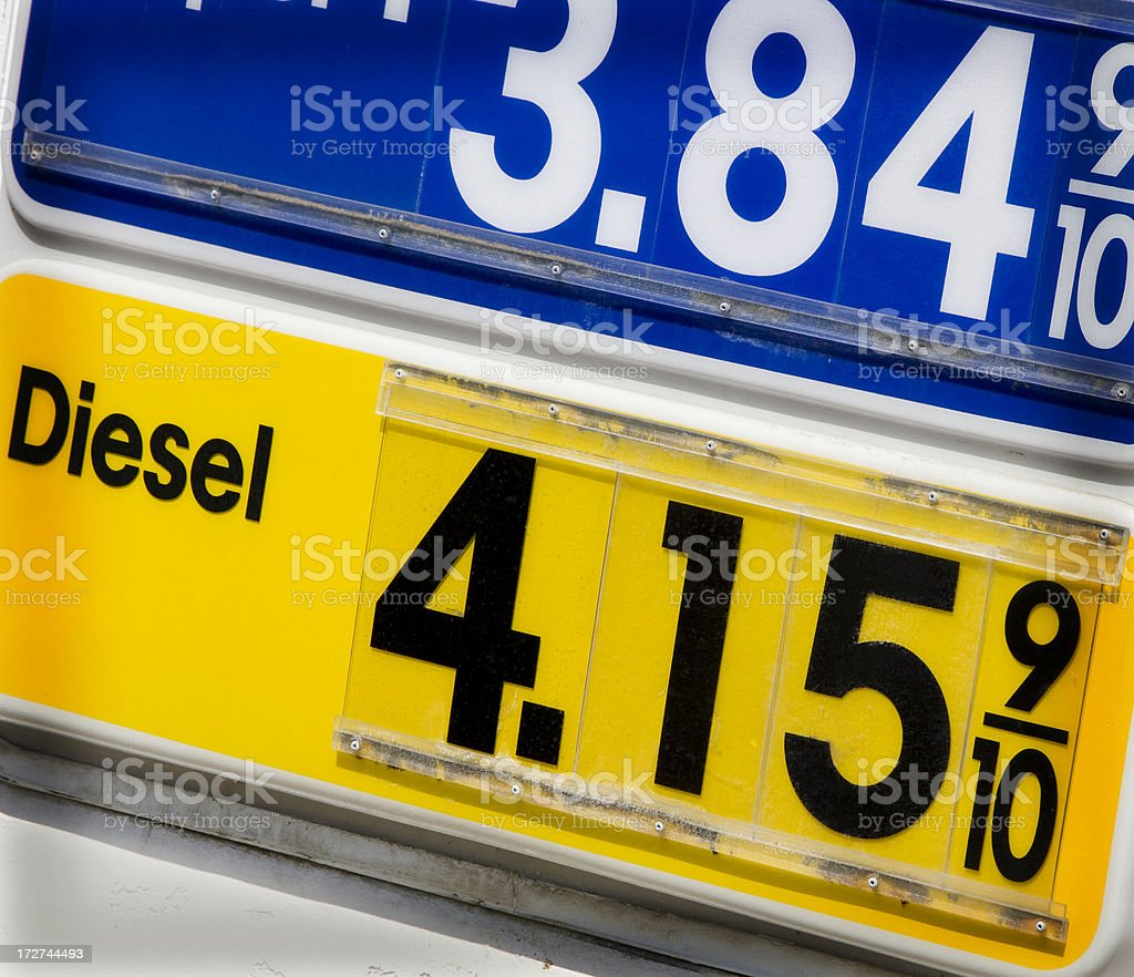 diesel price royalty-free stock photo