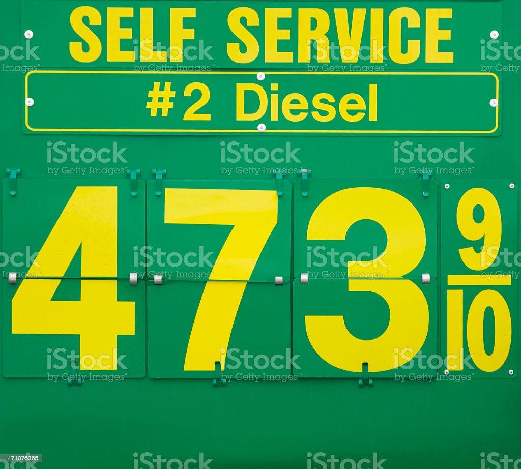 diesel price royalty-free stock photo
