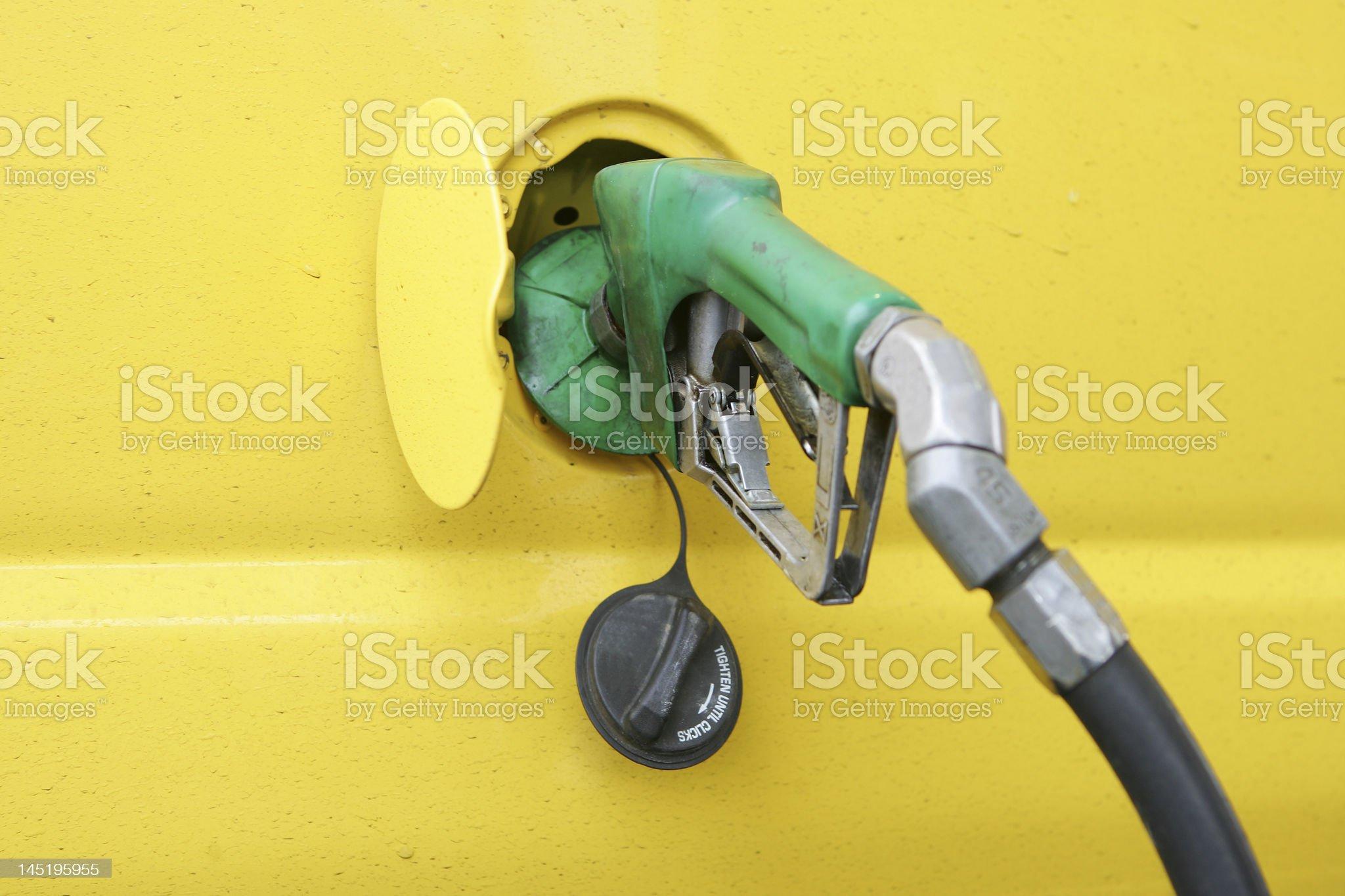 Diesel pump royalty-free stock photo