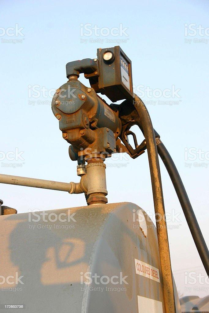 diesel pump stock photo