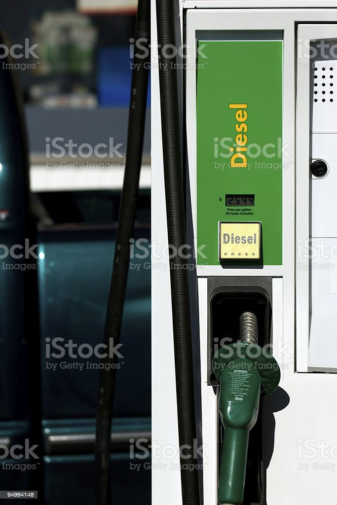 Diesel pump stock photo