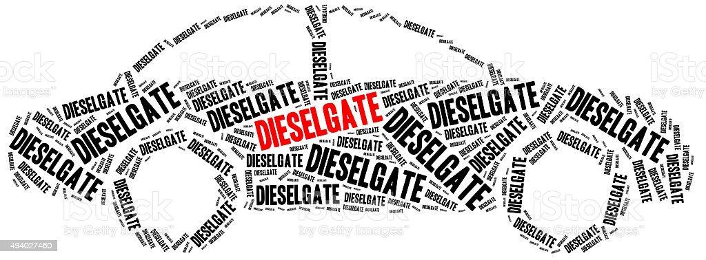 Diesel scandal. stock photo