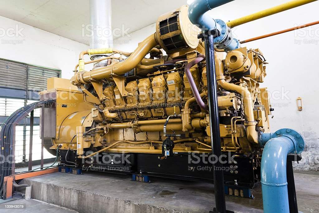 diesel standby generator stock photo