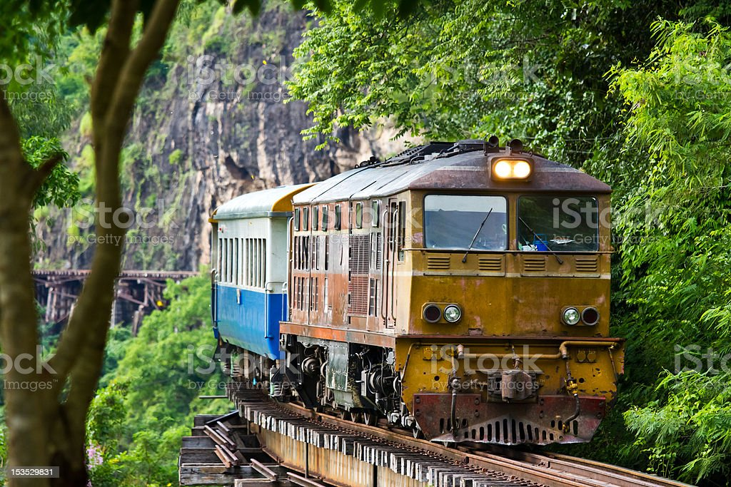 Diesel train stock photo