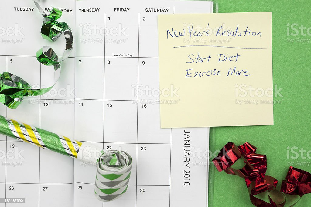 Diet and Exercise New Year's Resolution royalty-free stock photo