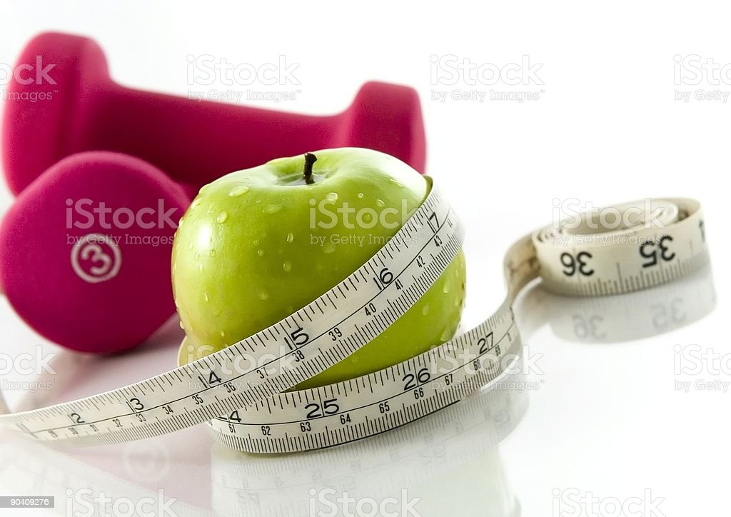 Diet and exercise royalty-free stock photo
