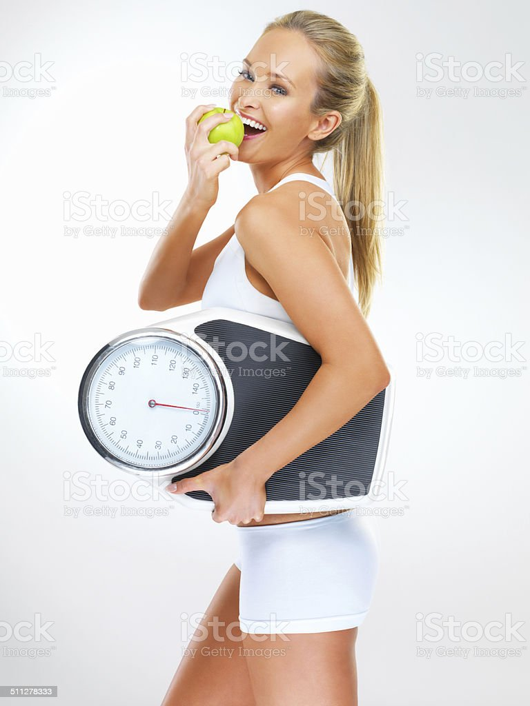 Diet and exercise - the perfect pairing stock photo