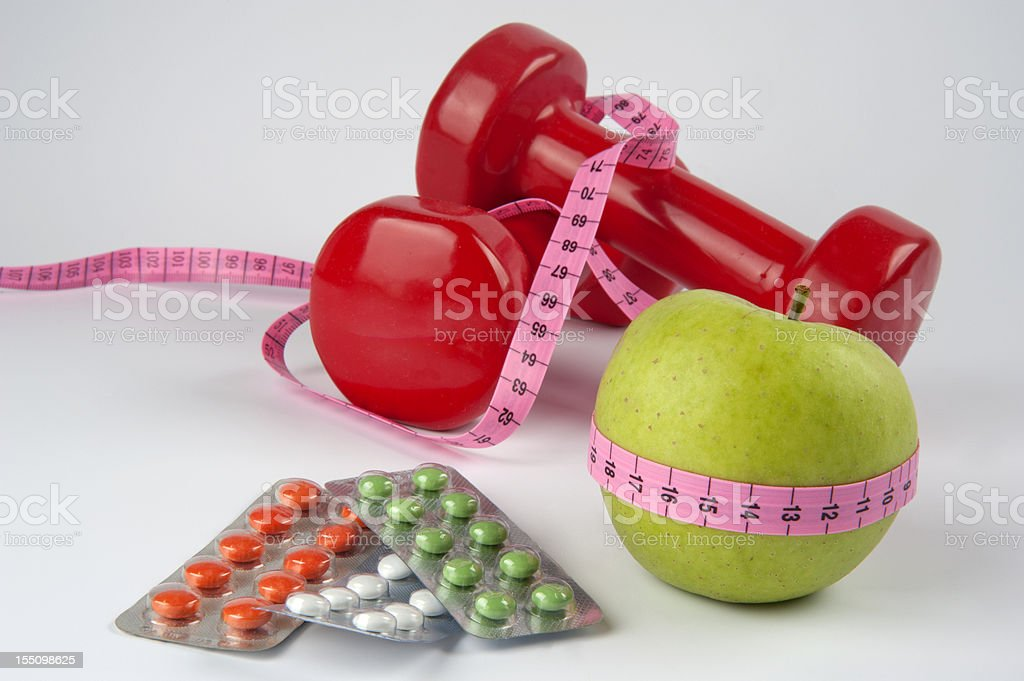 Diet and exercises royalty-free stock photo