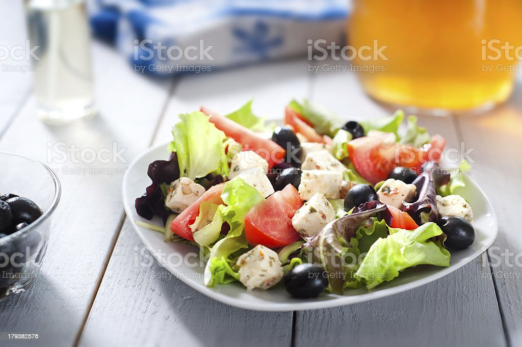 Diet and healthy mediterranean salad royalty-free stock photo