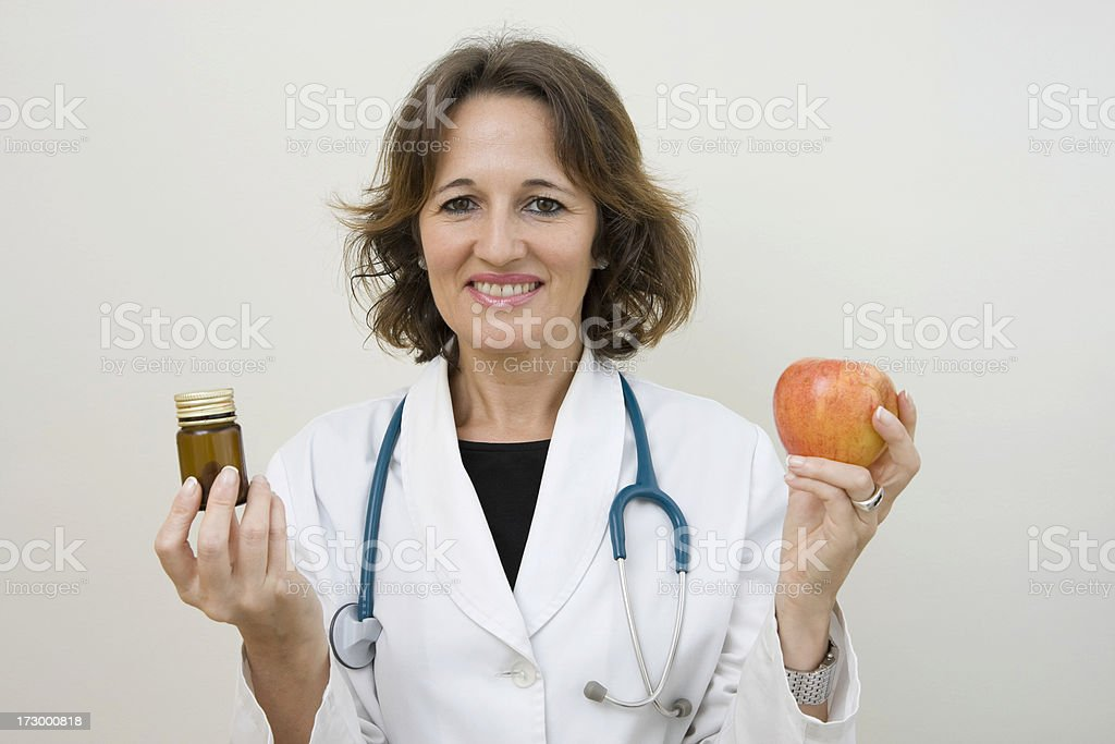 Diet and pills royalty-free stock photo