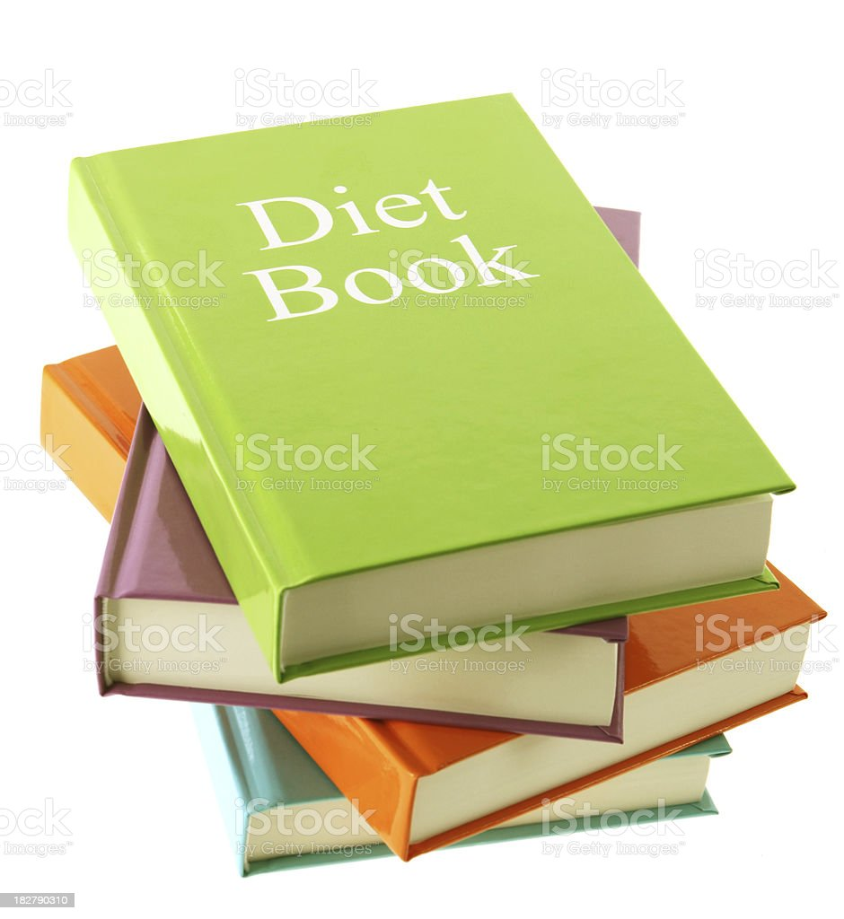 Diet Books royalty-free stock photo