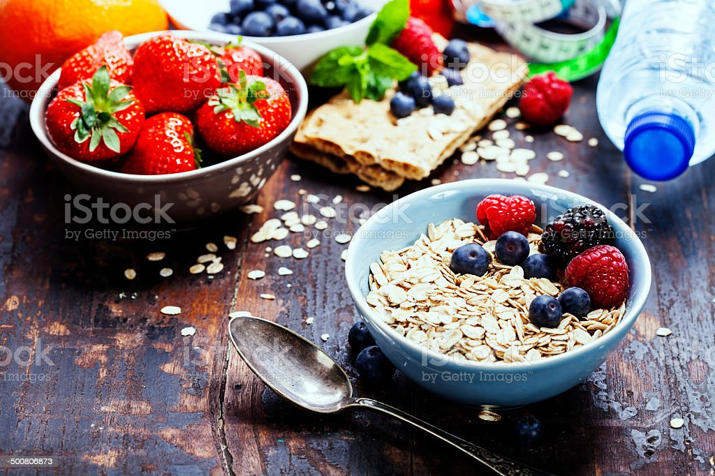 diet breakfast stock photo