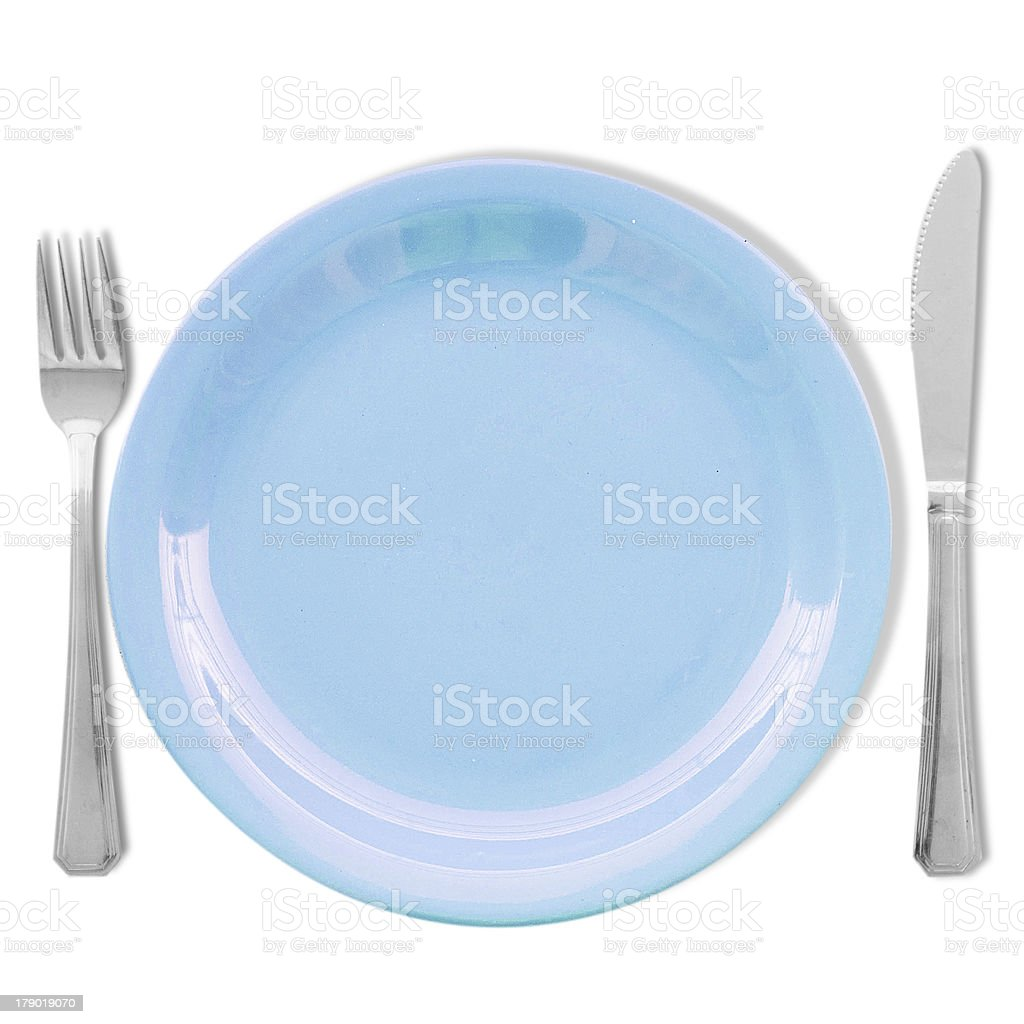 Diet concept. Ampty plate royalty-free stock photo