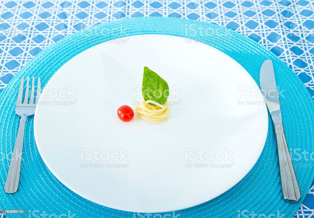 Diet Concept. Small Portion stock photo