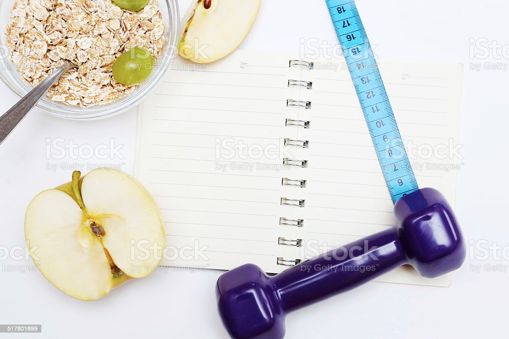 Diet diary stock photo