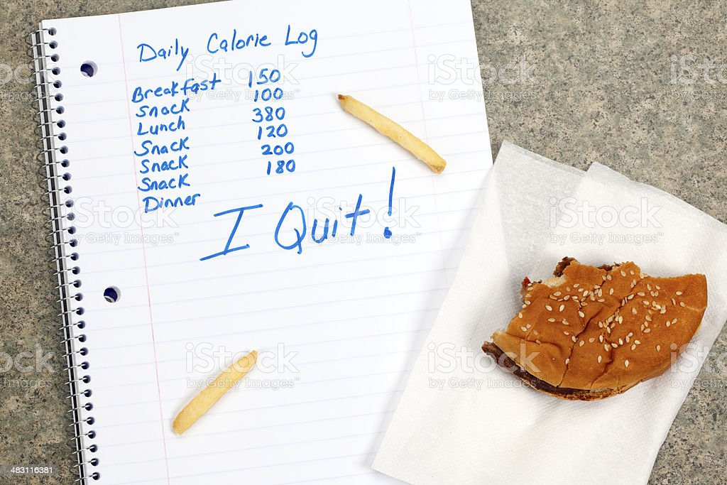 Diet Failure or Unhealthy Eating stock photo