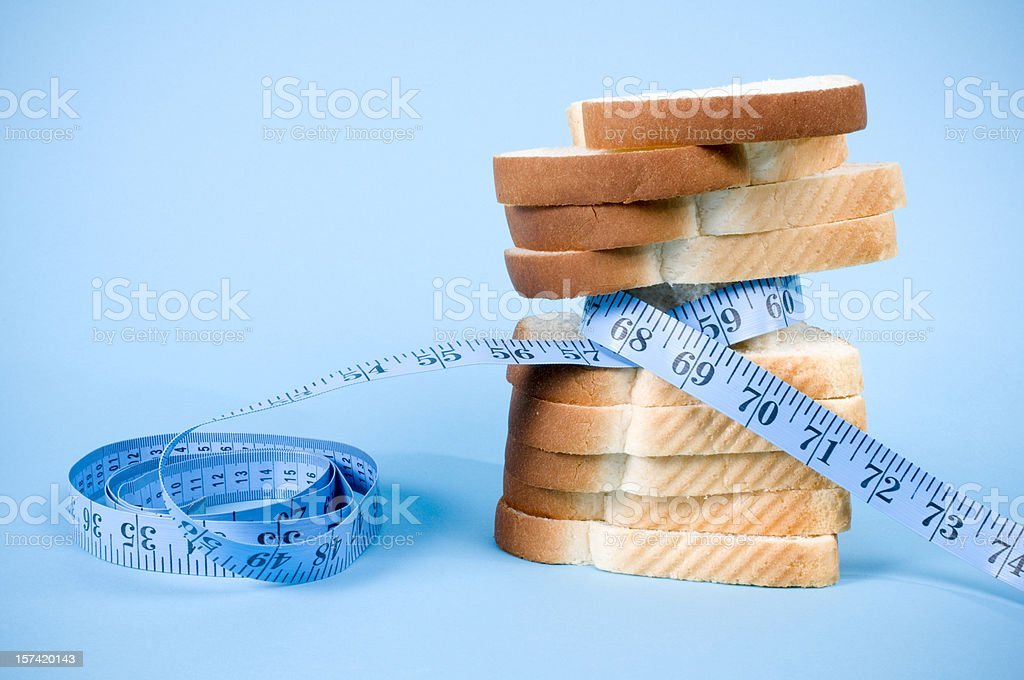 Diet Food on Blue stock photo
