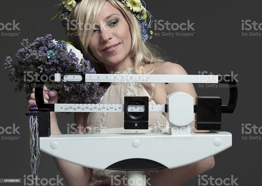 Diet for wedding royalty-free stock photo
