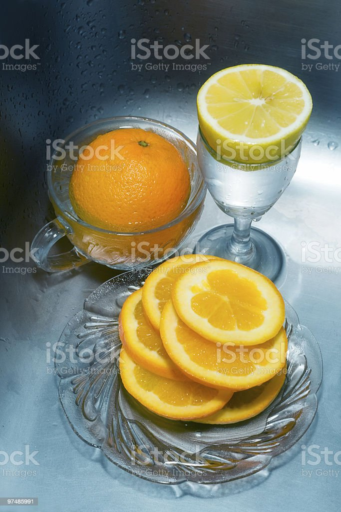 Diet - fruit cocktail royalty-free stock photo
