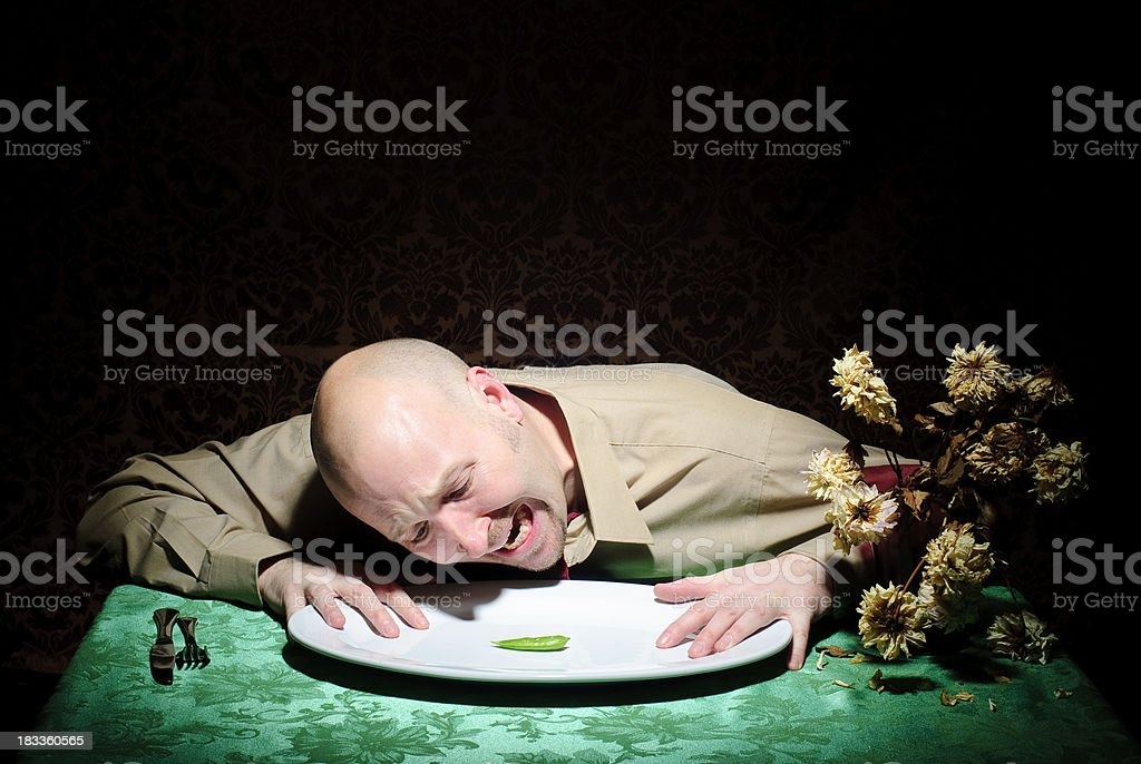 Diet Guy - In Distress royalty-free stock photo