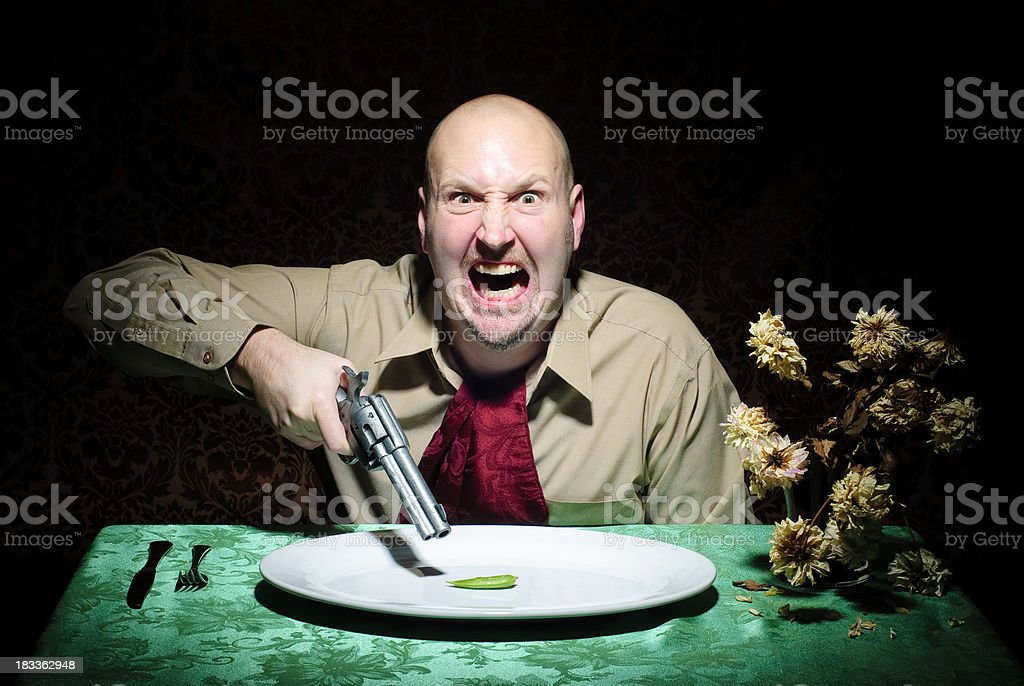 Diet Guy - Taking Revenge royalty-free stock photo