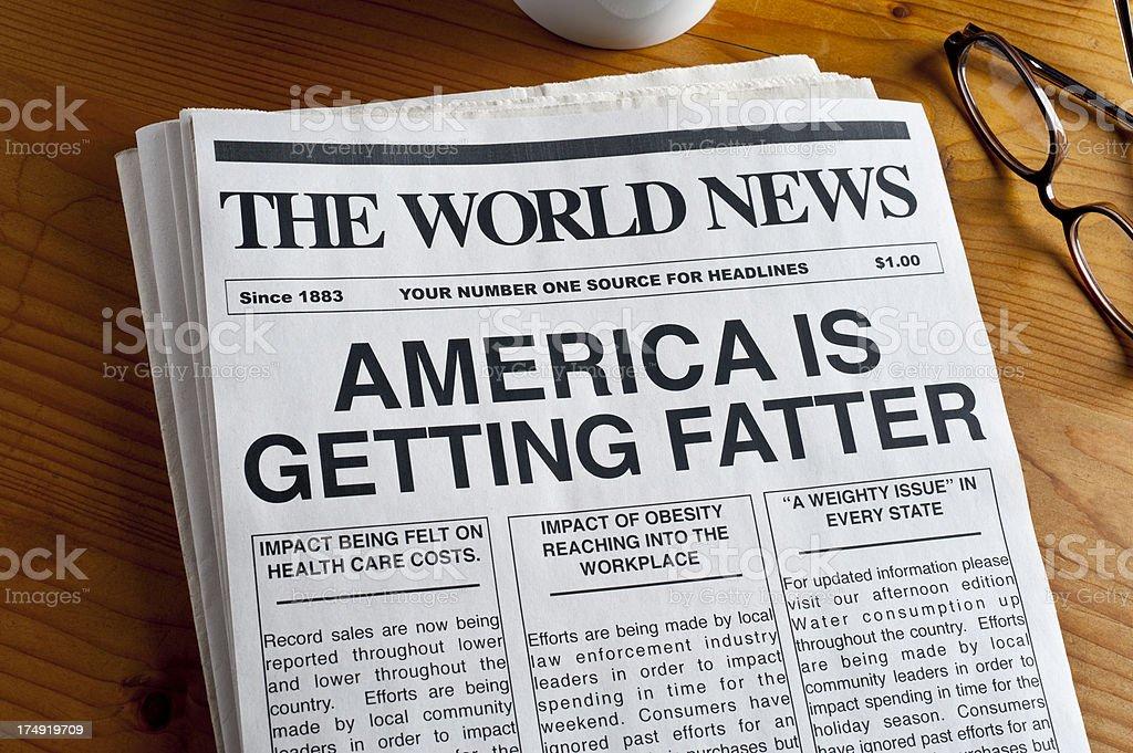 Diet Headline stock photo