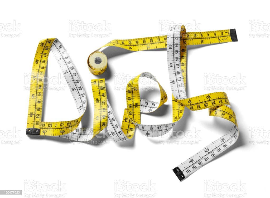 Diet in a Tape Measure stock photo